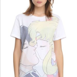 Tops - Sailor Moon and Tuxedo Mask T Shirt